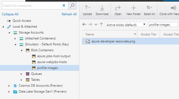 Azure storage emulator