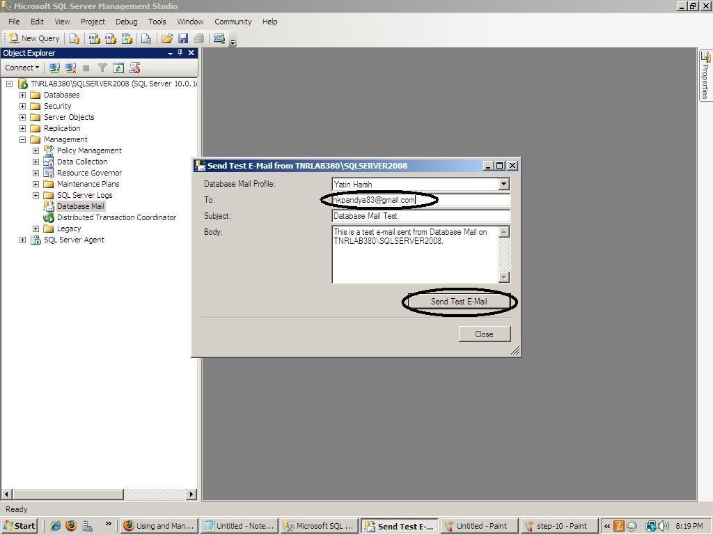 Database Configuration into SQL Server