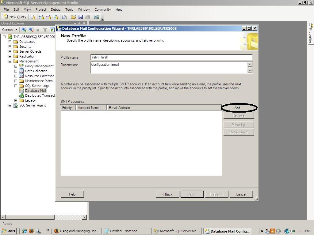 How to Configure Database Mail in SQL SERVER 2005
