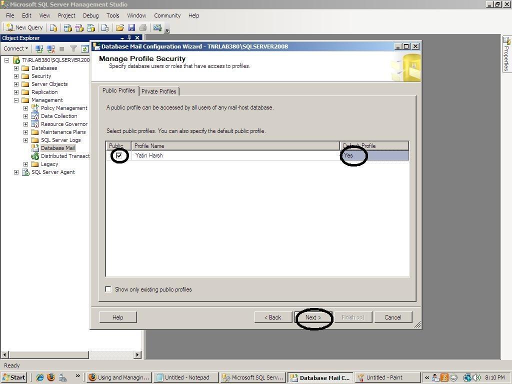 Database Configuration in SQL Server