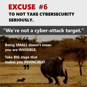 We're not a potential cyber-attack target
