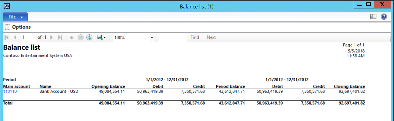 Ledger balance verification in Trial balance