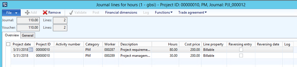 Project Management - Posting Scenario