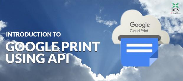 Google Cloud Print using API