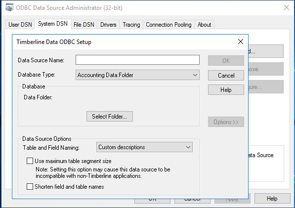 ODBC data source