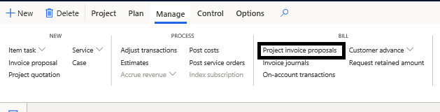 Project invoice proposal